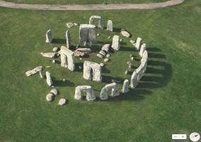 Vista Flyover de Stonehenge