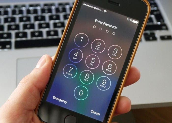 Código de seguridad en iOS 7