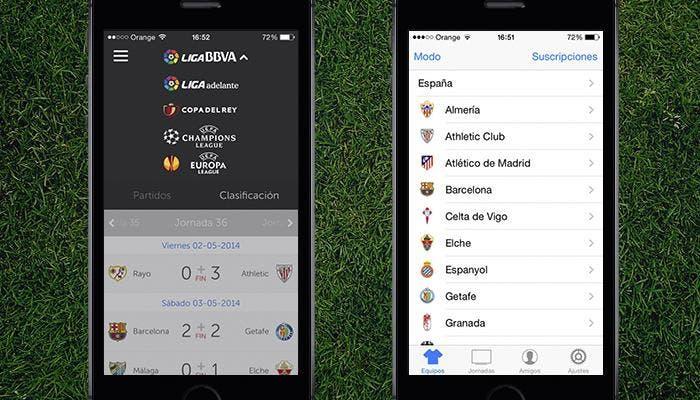 Aplicaciones para consultar resultados en iPhone 5s
