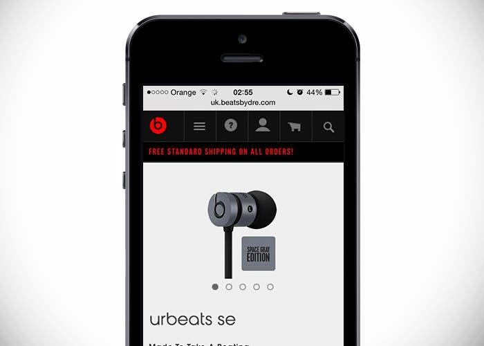 Auriculares Beats de los colores del iPhone 5s