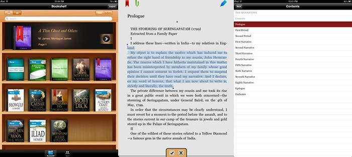Aplicación Ebook Reader para leer en el iPad