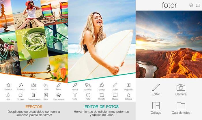 Gestión y edición de fotografías e imágenes con Fotor