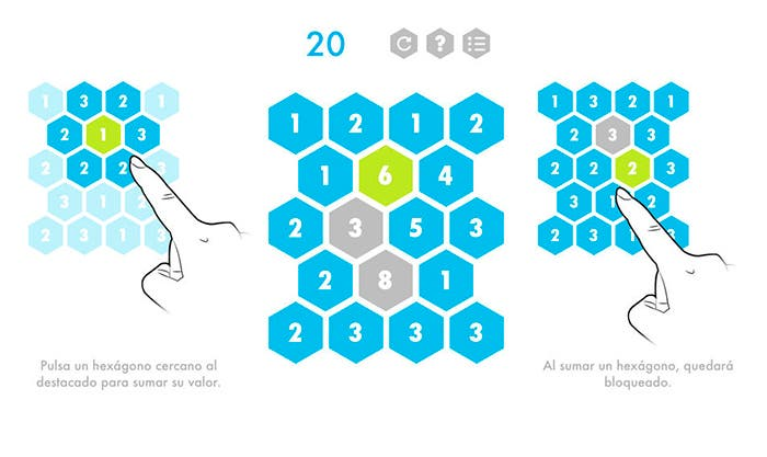 Juego Hexagons para iOS