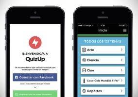 Juego de preguntas QuizUp en iPhone 5s