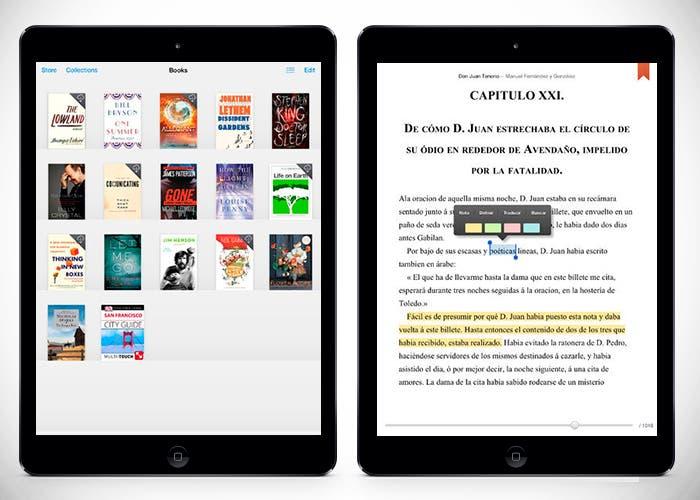 Aplicaciones de lectura en iPad Air