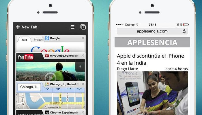 Chrome y Safari en iPhone 5s