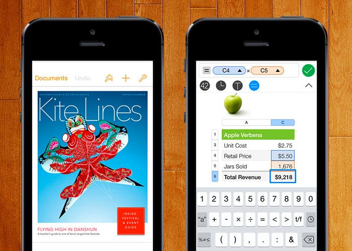 Pages y Numbers de Apple para tu iDevice