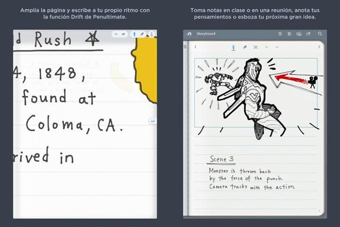 Aplicación Penultimate para tomar y gestionar tus notas