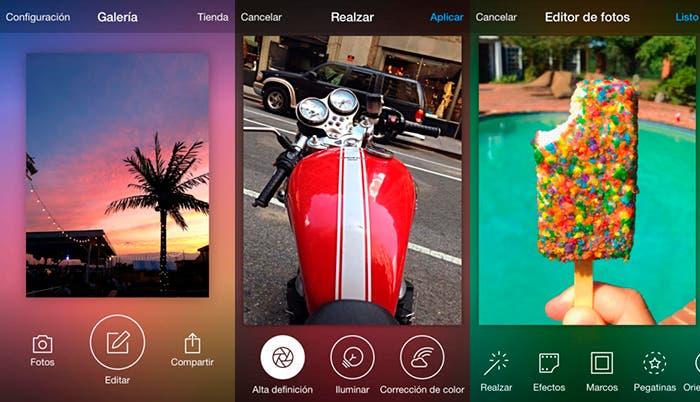 Gestiona y edita fotos en tu iphone con estas aplicaciones for Editor de fotos efectos