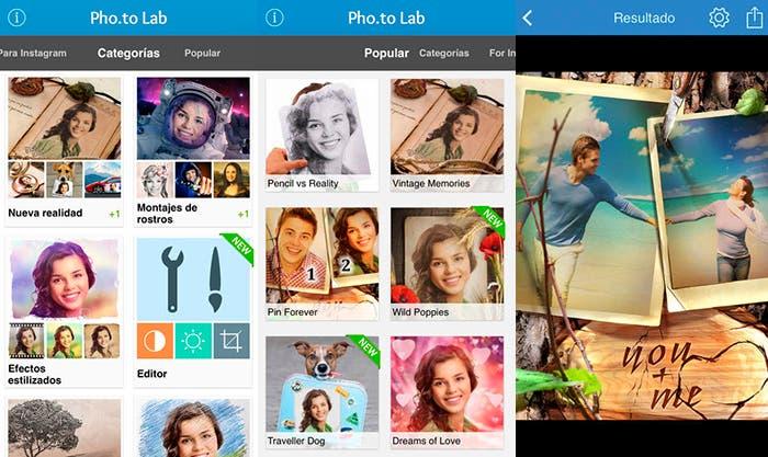 Edita tus fotos con Pho.to Lab