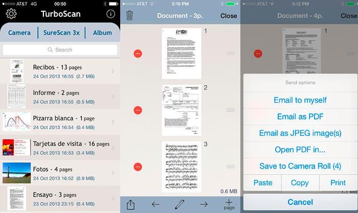 Copia y escanea tus documentos con TurboScan