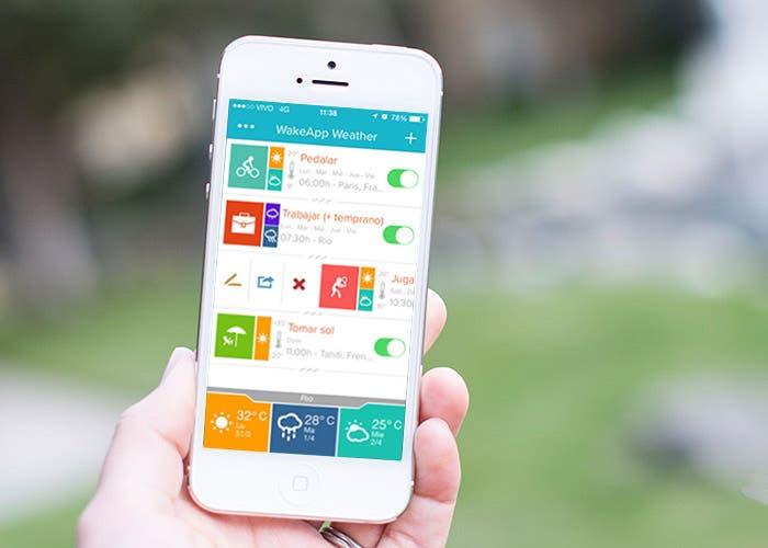 WakeApp Weather para iPhone