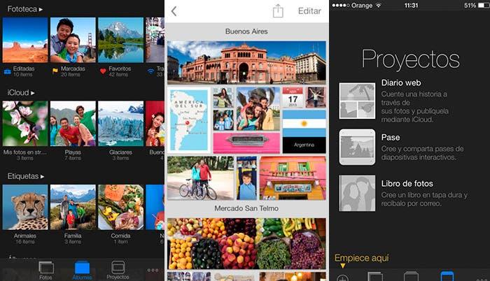Aplicación iPhoto
