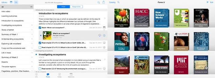 iTunes U para iPad