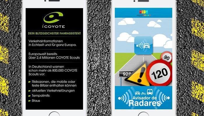 iCoyote y Avisador de Radares en iPhone 5s