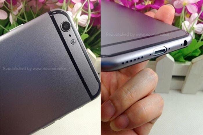 Cámara y conector Lightning del iPhone 6