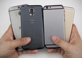 iPhone 6 comparado con Samsung Galaxy S5