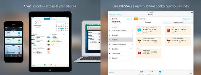 Aplicación para estudiantes iStudiez Pro