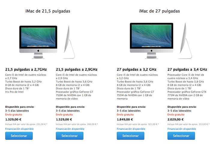 Suben los tiempos de envío del iMac