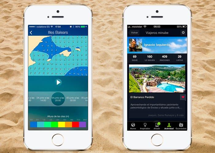 iPlaya y Minube en iPhone 5s