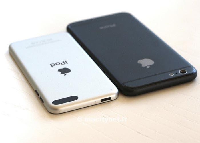 Comparativa de maqueta iPhone 6 con iPod touch