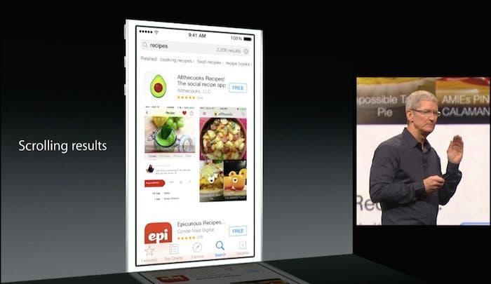 Novedades de la App Store en iOS 8