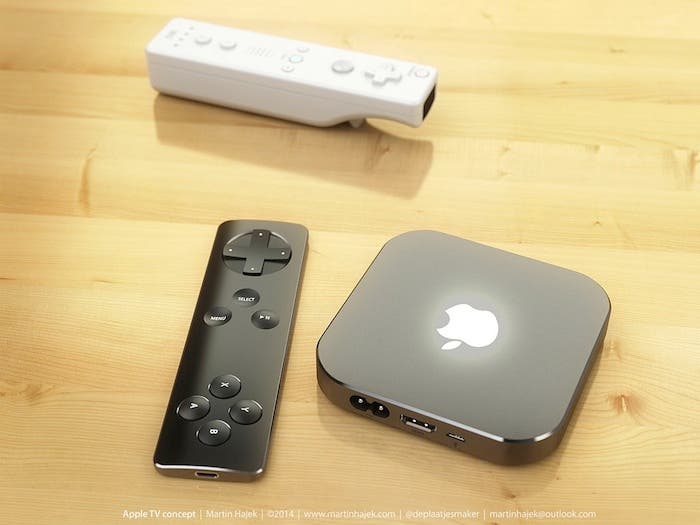 Concepto del Apple TV con mando de Wii