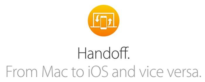 Simbiosis entre Mac e iOS con Handoff