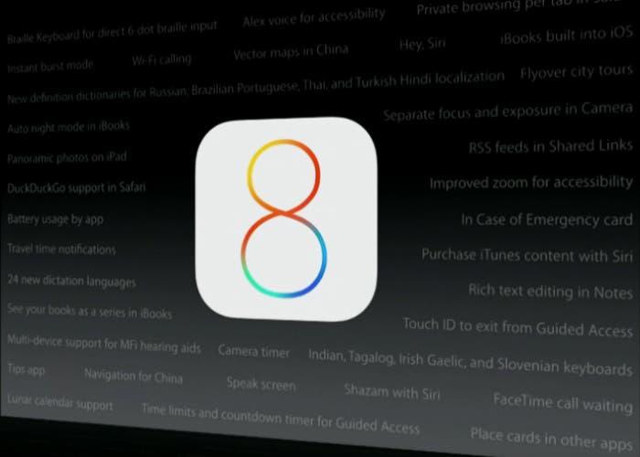 Características que te perdiste de iOS 8