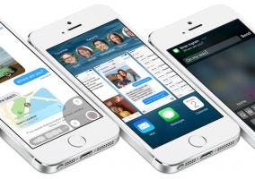 iPhone 5s corriendo iOS 8