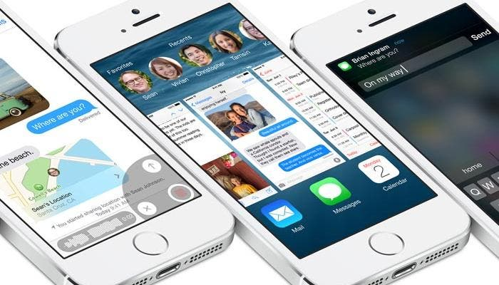 iPhone 5s corriendo iOS 8