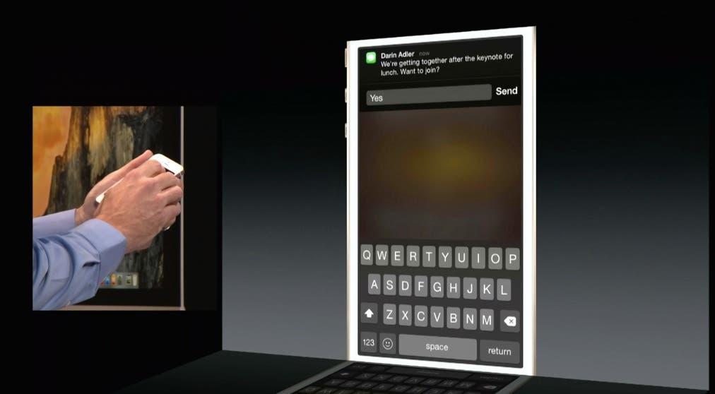 Contestación rápida a notificaciones en iOS 8