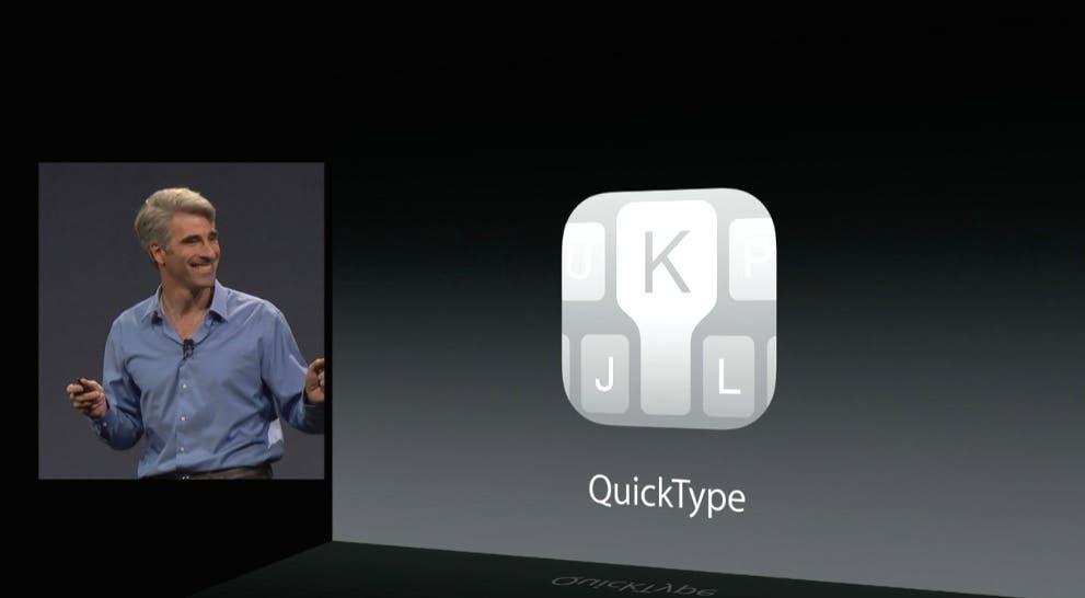 Presentación de QuickType