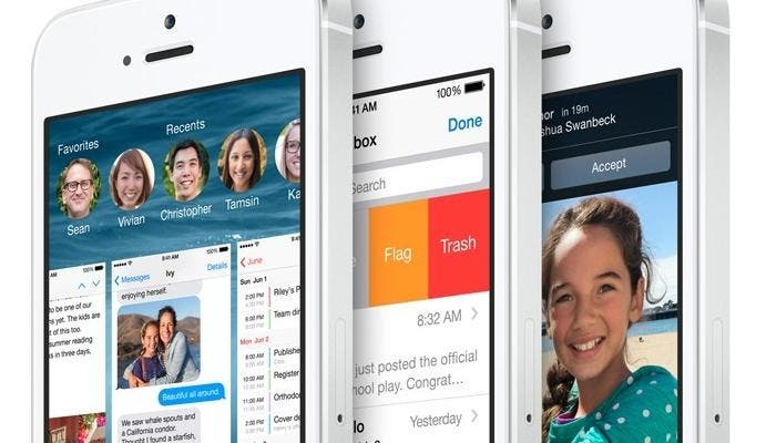 iOS 8 corriendo en el iPhone 5s