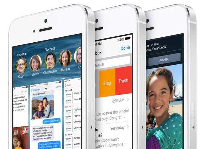 iOS 8 corriendo en el iPhone 5s