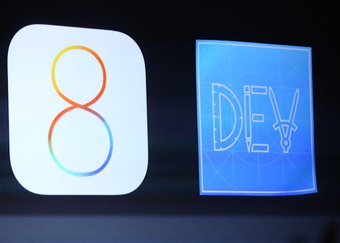 iOS 8 DEV logos