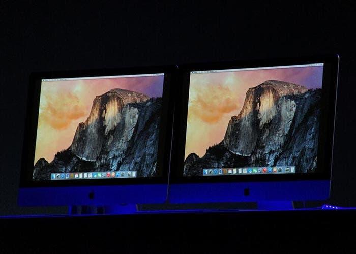 Capturas de OS X Yosemite en unos iMac