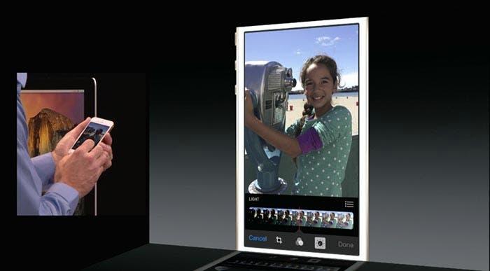 Mejora del retoque en Fotos en iOS 8