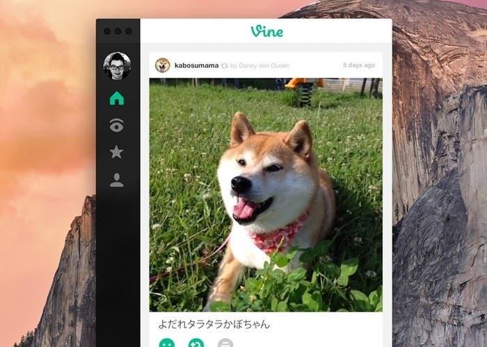 Concepto de la aplicación Vine para OS X Yosemite