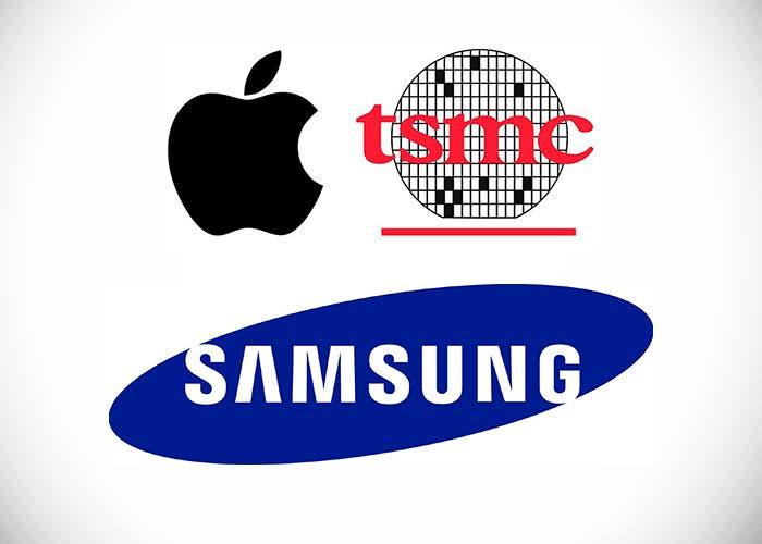Logos de Apple, Samsung y TSMC