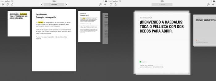 Tu aplicación de edición de texto con Daedalus Tocuh