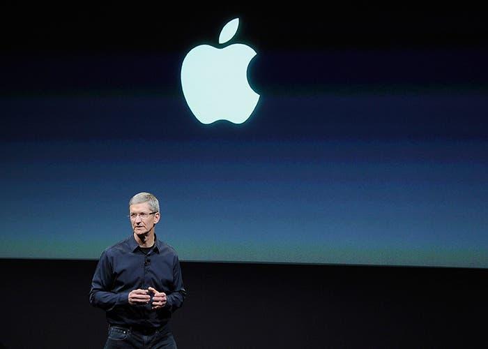 Tim Cook en la presentación de nuevos productos de Apple