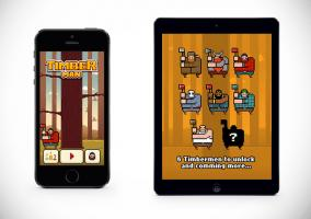 Timberman en iPhone 5s y iPad Air