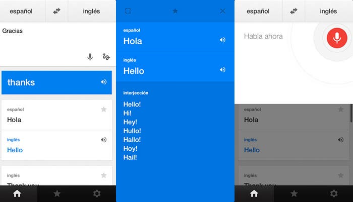 Aplicación de traducción de Google