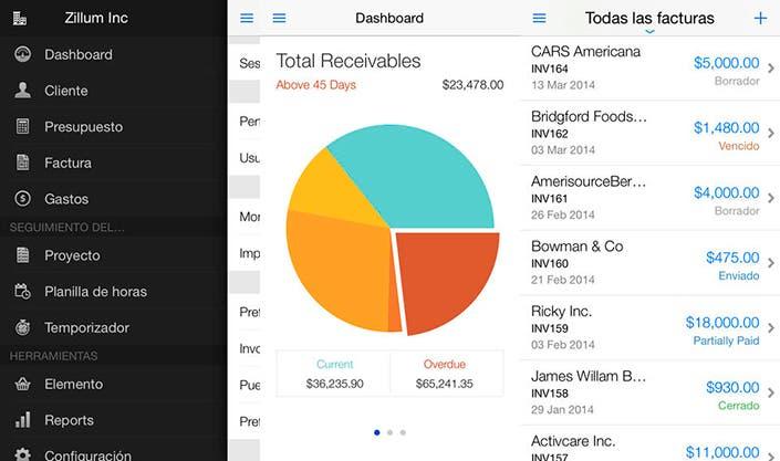 Factura desde tu iPhone o iPad con Zoho Invoice