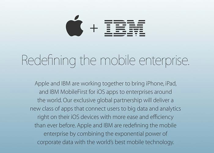 Apple e IBM juntan esfuerzos en la empresa