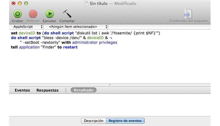 Código de AppleScript