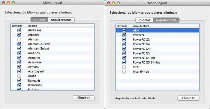 Monolingual funcionando en Mac