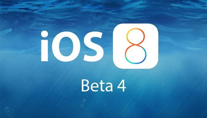 Cuarta versión beta de iOS 8
