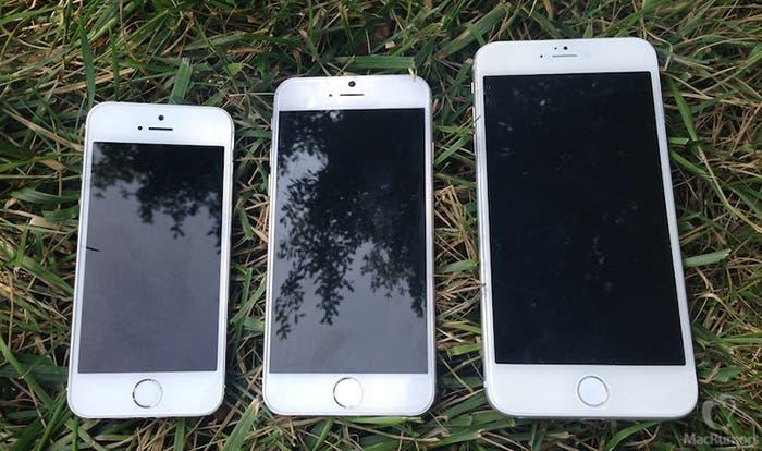 iPhone 5s y las dos posibles variantes del iPhone 6